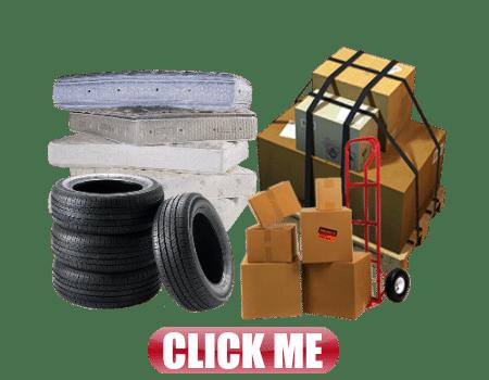 freight boxes tires matresses